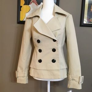 NY&Co trench jacket, cotton/nylon blend, size s